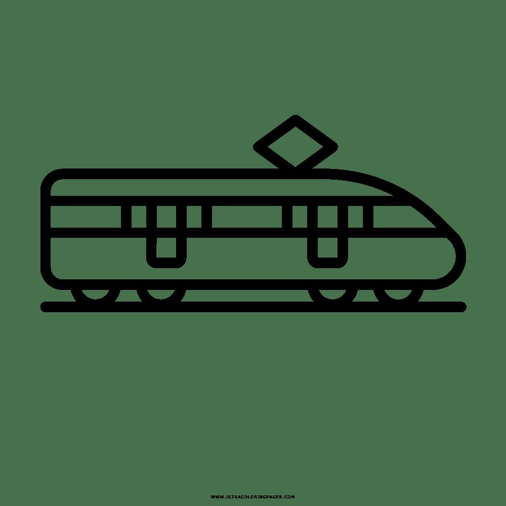 Treno Disegni Da Colorare