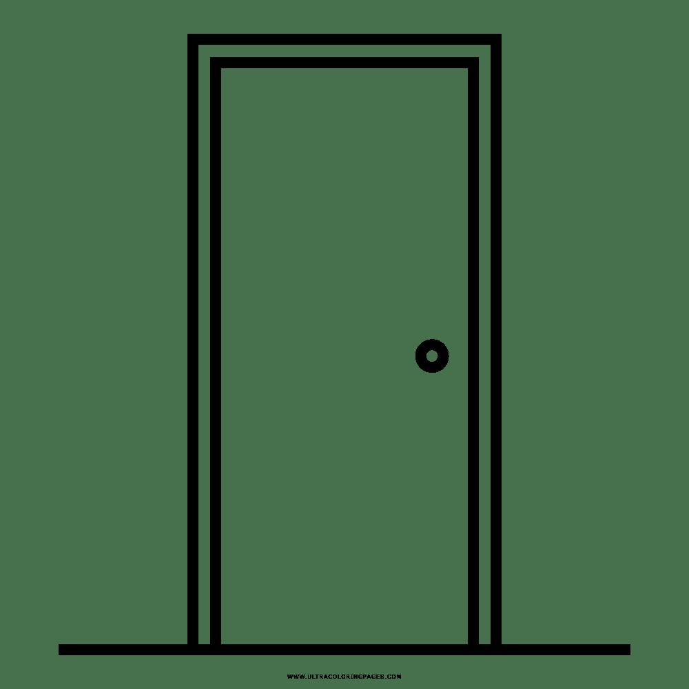 Dibujo De Puerta Cerrada Para Colorear