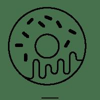 Donuts Para Colorear 4 Para Para 6 Dibujos De Donas Kawaii