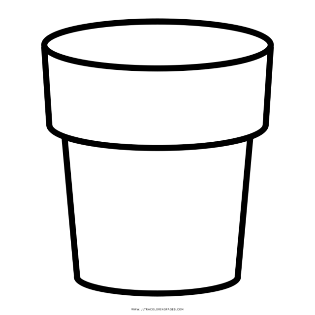 Flower Pot Coloring Page - Ultra Coloring Pages
