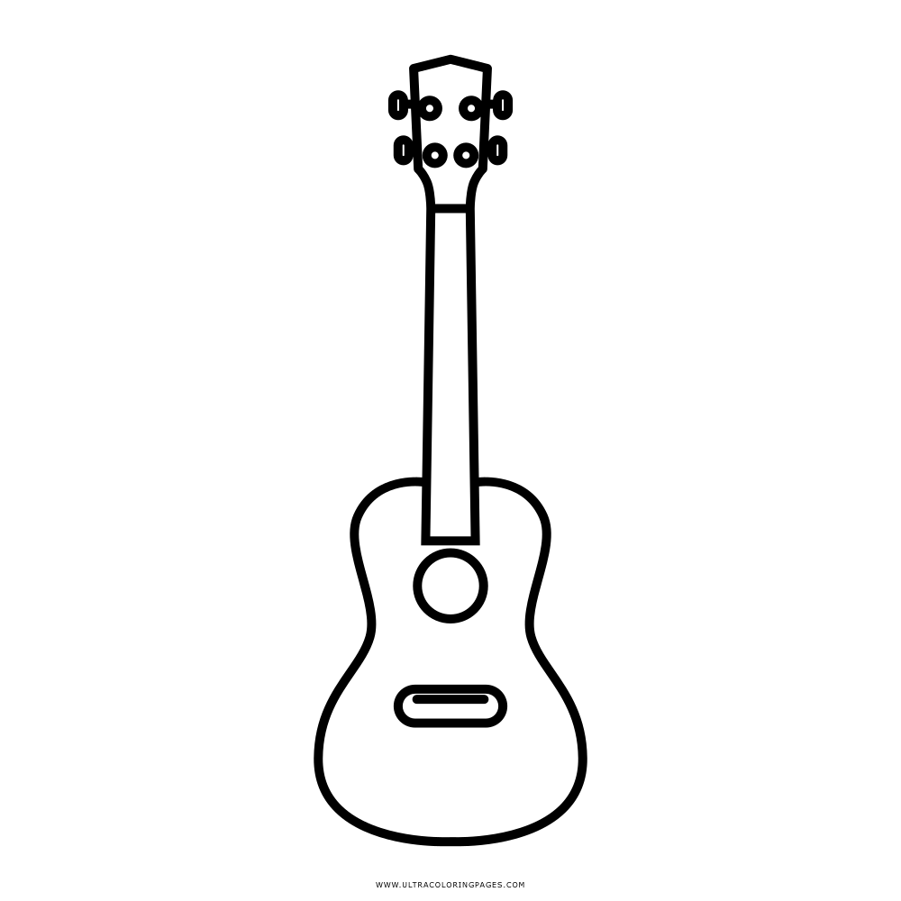 Image Of Coloring Page Ukulele Free Printable Png 1000x1000 Pages