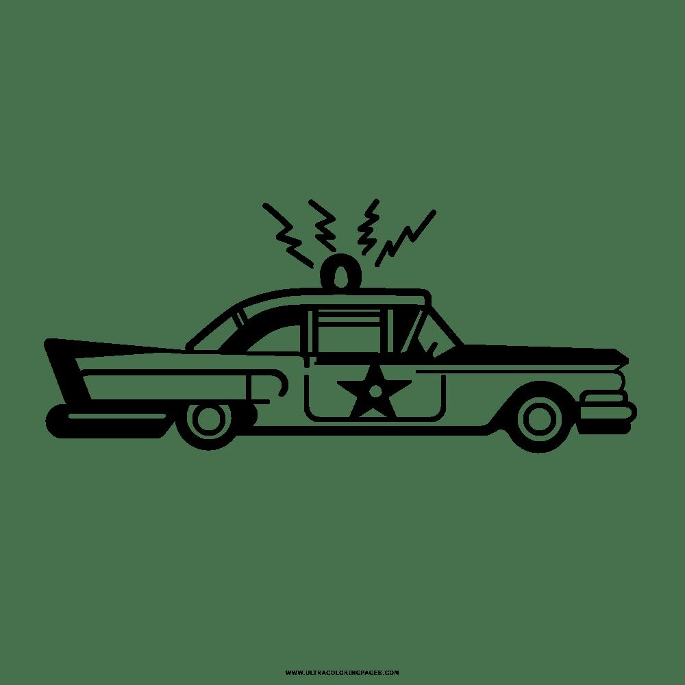 Auto Della Polizia Disegni Da Colorare