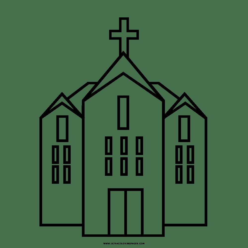 Dibujo Iglesia Para Colorear