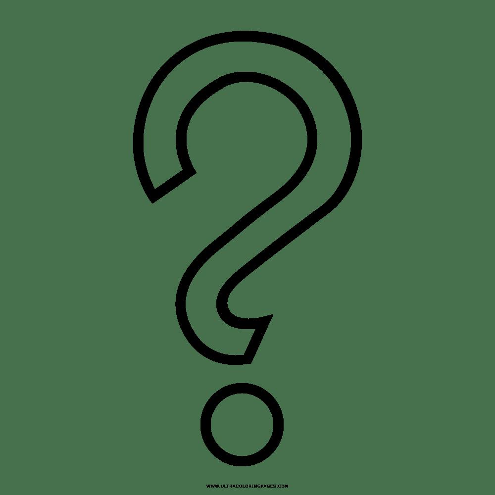 Signos De Interrogacion Para Colorear Ecro Dibujos