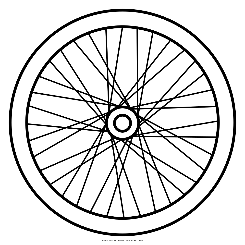 Bike Wheel Page Coloring Pages