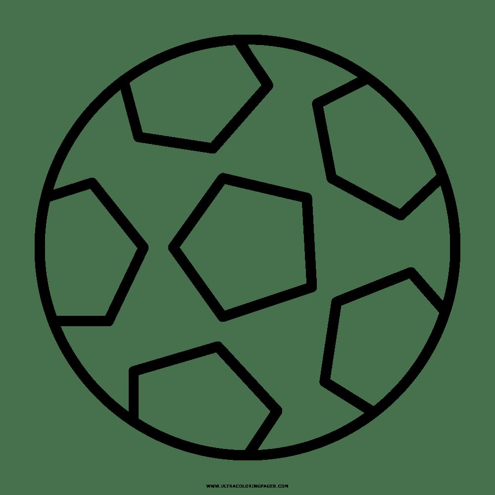 Pelota De Futbol Para Colorear