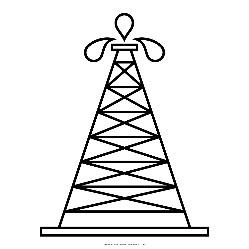 Dibujo De Plataforma Petrolera Para Colorear