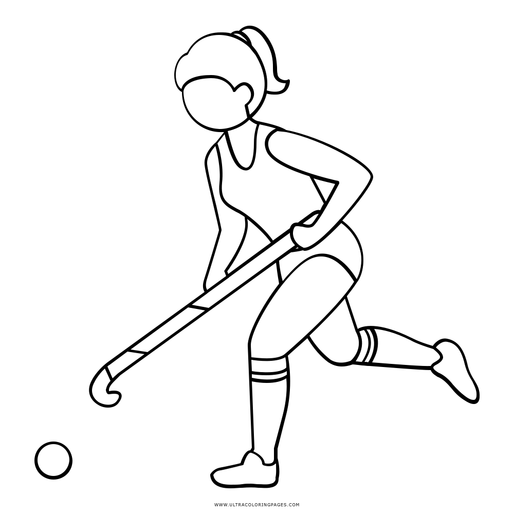 Field Hockey Coloring Pages Sketch Coloring Page