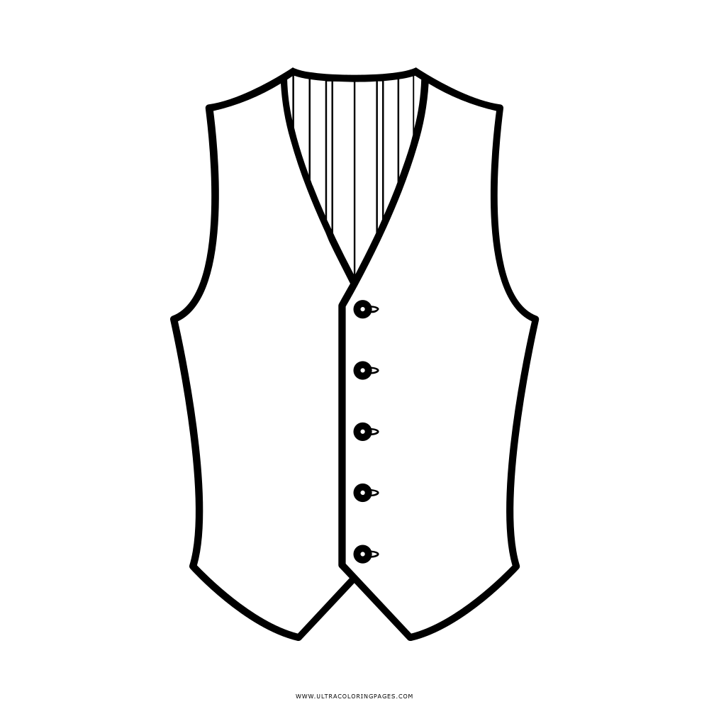 Sheet Of A Vest Coloring Pages