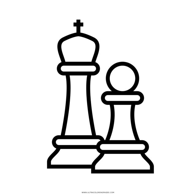 Chess Pieces Coloring Page - Ultra Coloring Pages