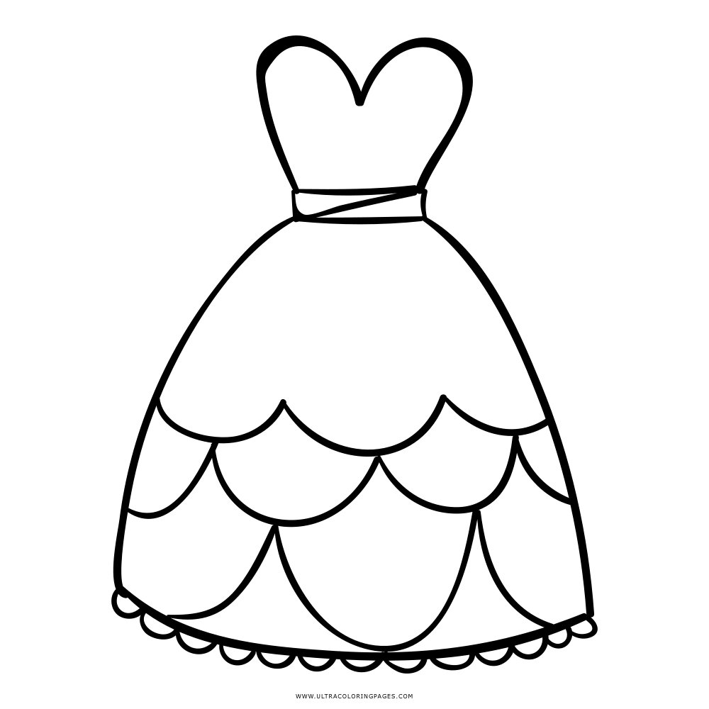 Dress Coloring Page Ultra Coloring Pages