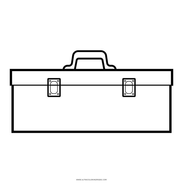Tool Box Coloring Page - Ultra Coloring Pages