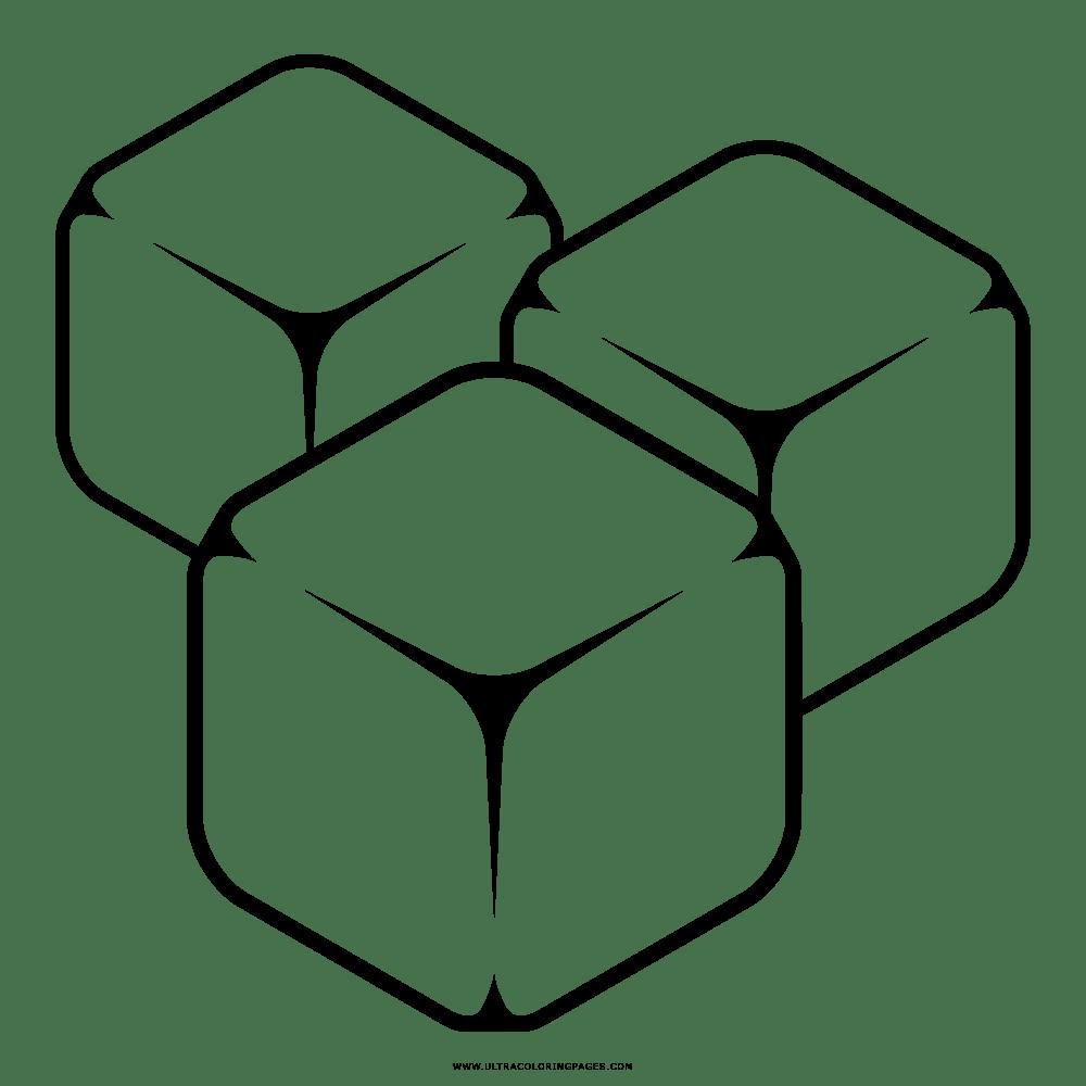Dibujo De Cubos De Hielo Para Colorear