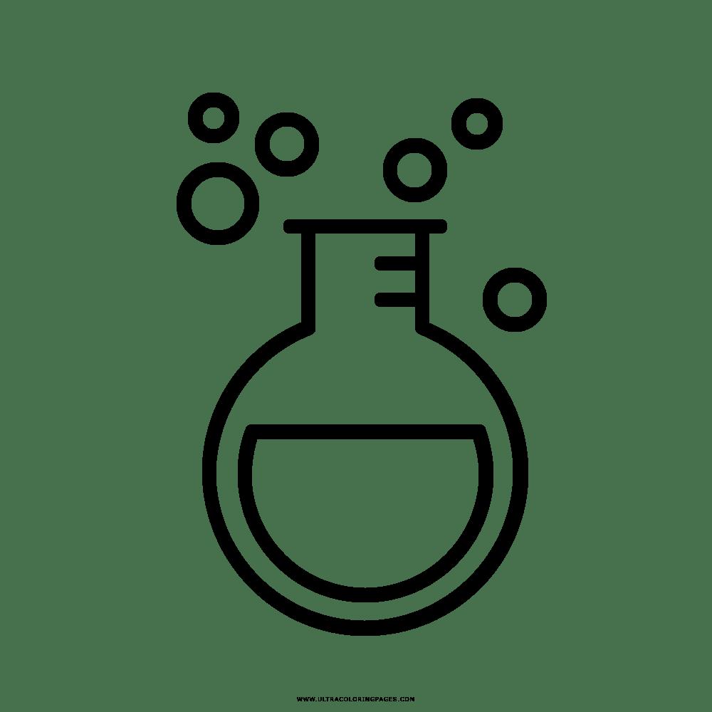 Dibujos Para Colorear Quimica Dibujo De Clase De Qumica