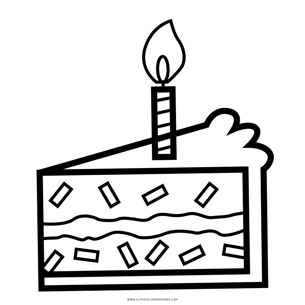 Birthday Cake Coloring Page Ultra Coloring Pages