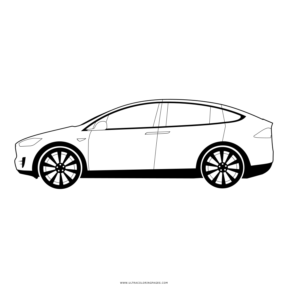 Tesla Model X Coloring Pages