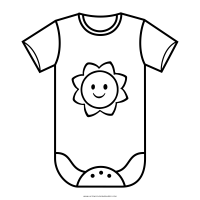 Baby Clothes Coloring Pages - Bltidm