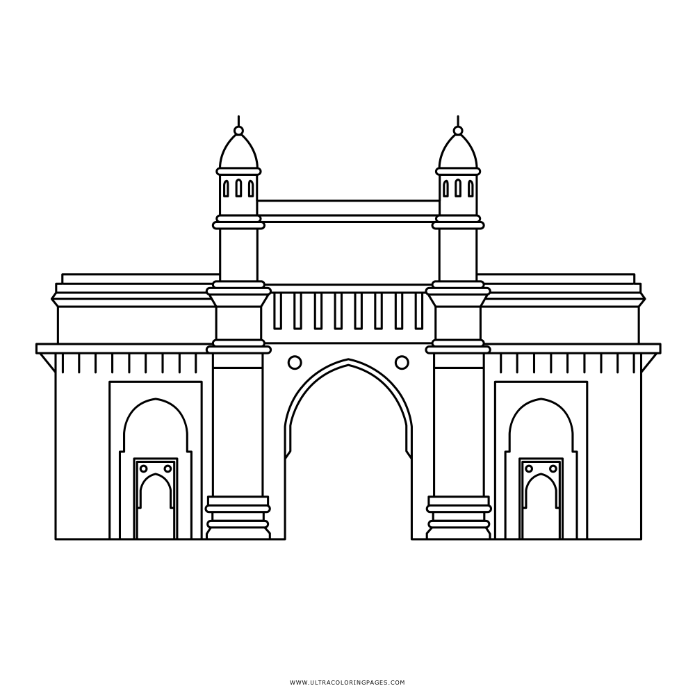Gateway Of India Coloring Page Ultra Coloring Pages