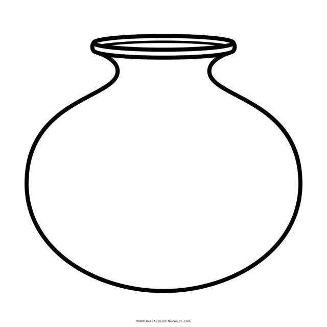 Earthen Pot Coloring Page - Ultra Coloring Pages