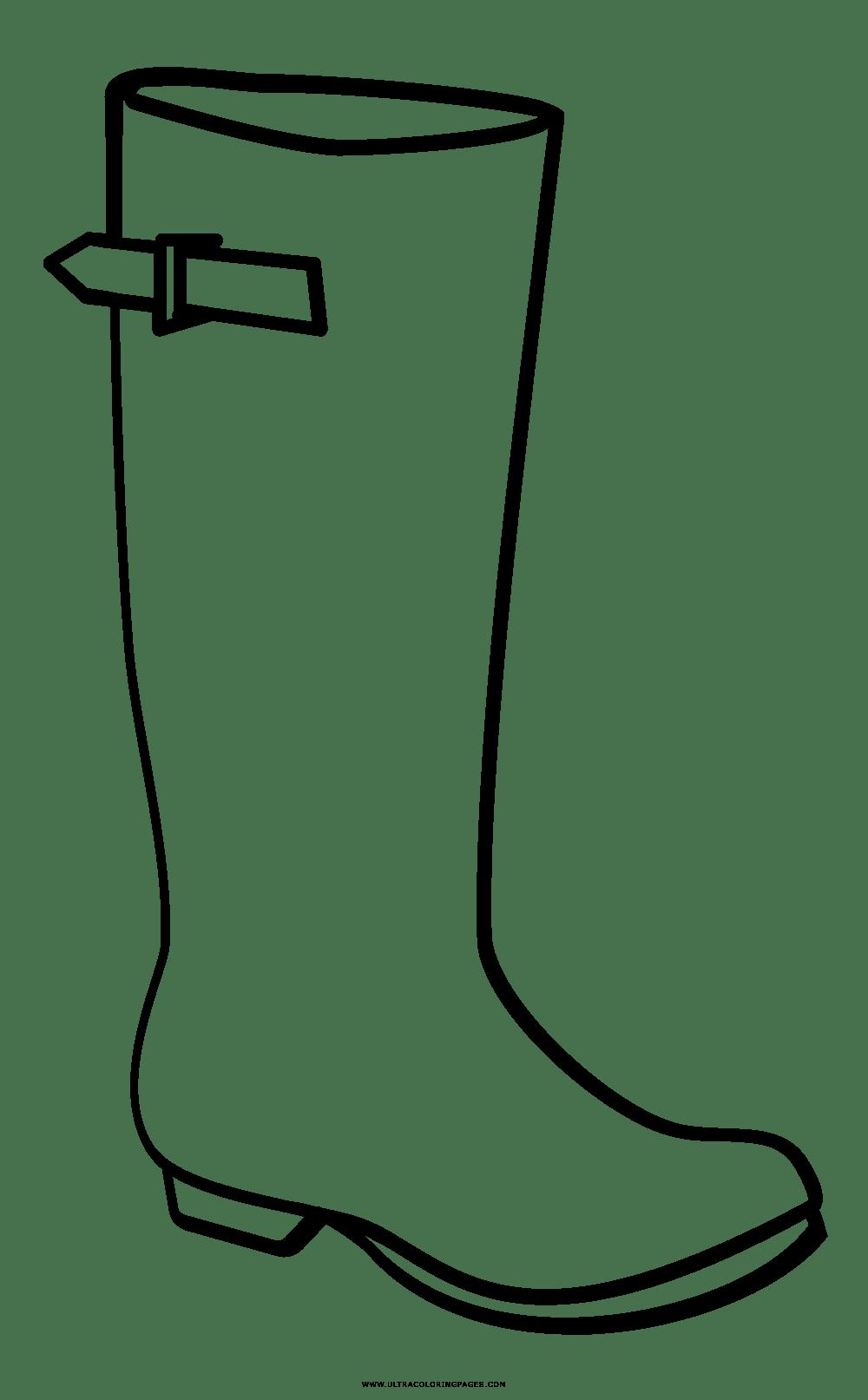 Dibujo De Botas De Lluvia Para Colorear