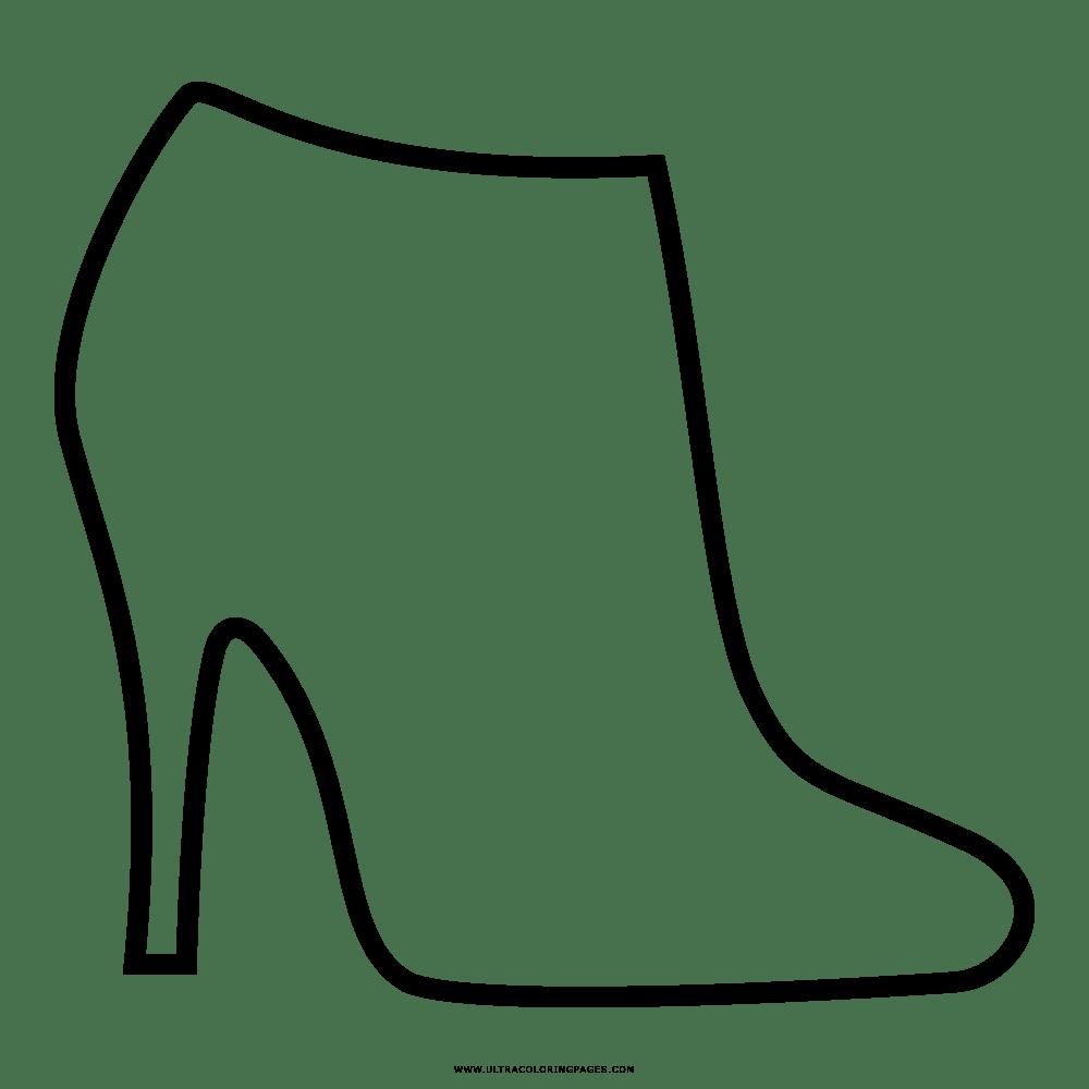 Zapatos De Tacon Para Colorear Dibujo De Tacones Altos