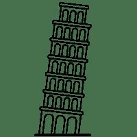 Der Schiefe Turm Von Pisa Zum Ausmalen