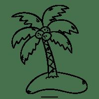 Malvorlage Insel Mit Palme   tippsvorlage.info ...