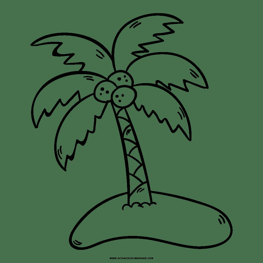 Malvorlage Insel Mit Palme - tippsvorlage