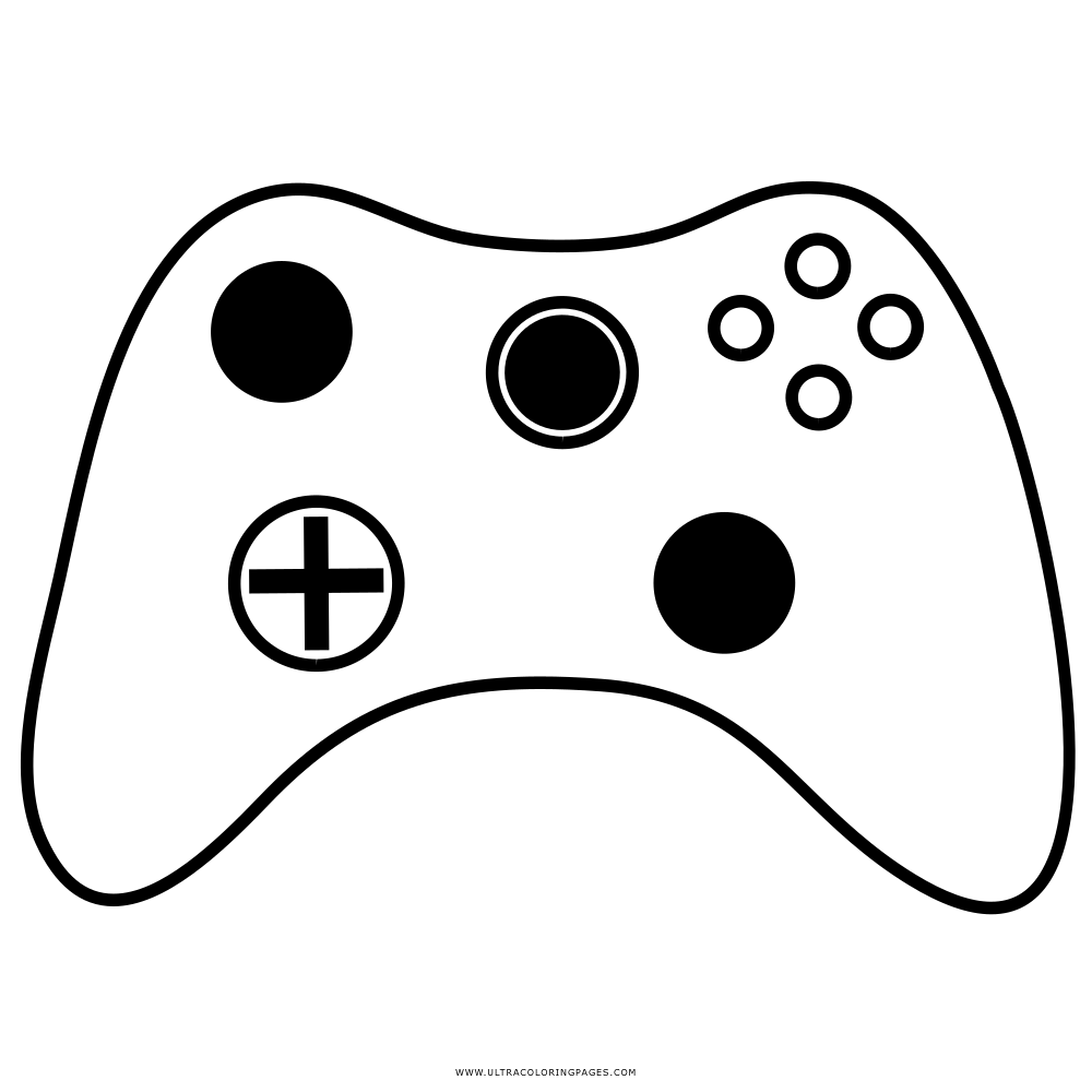Xbox 360 Controller Coloring Page Sketch Coloring Page