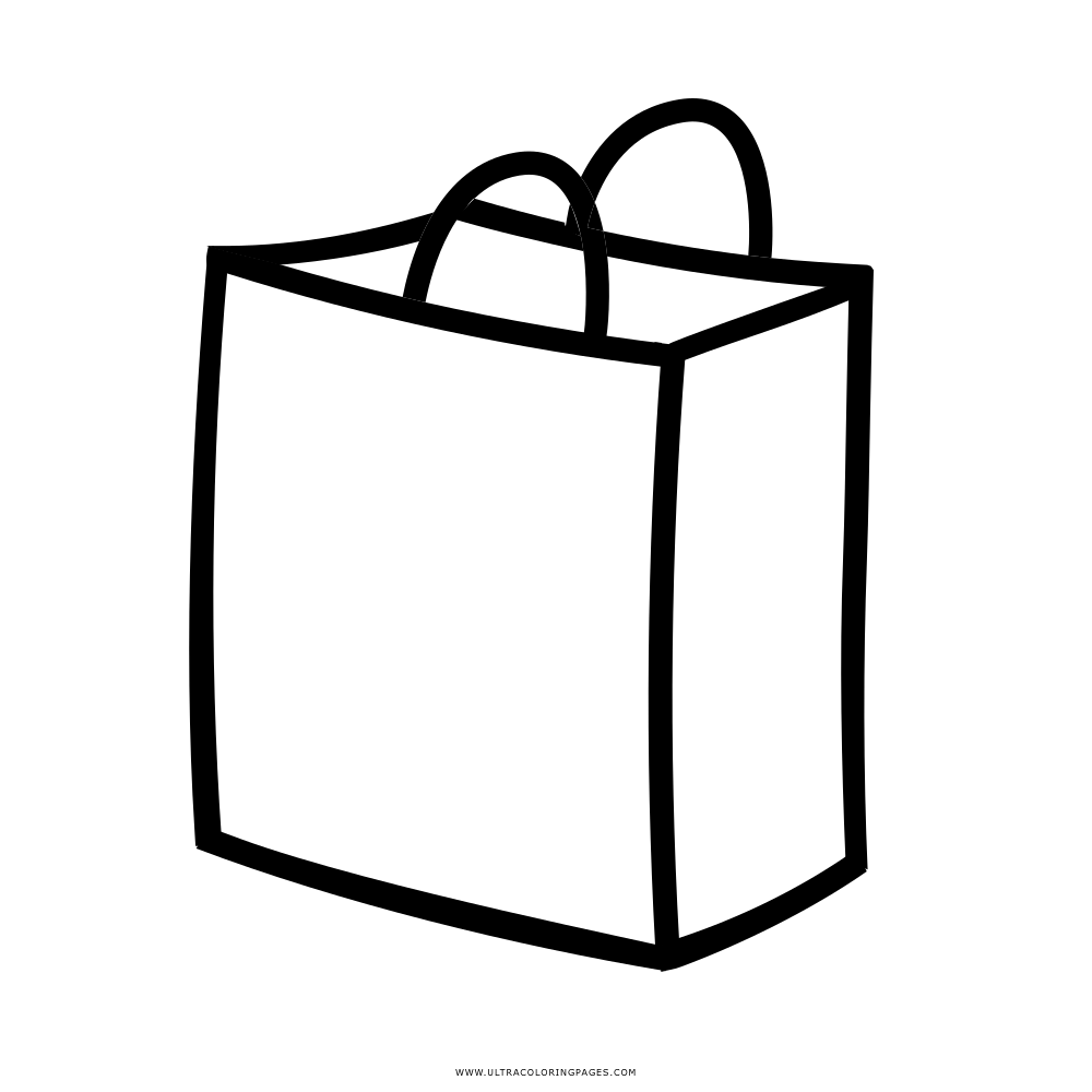 Dibujo De Bolsa De La Compra Para Colorear