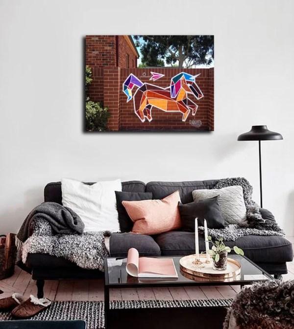 urban unicorn print