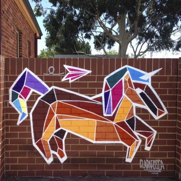 graffiti unicorn street art