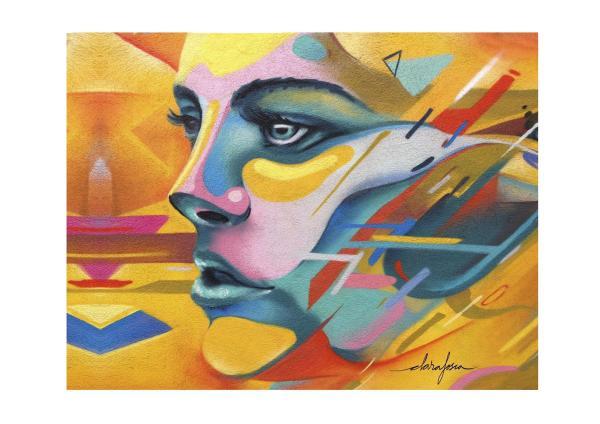 Barcelona graffiti print