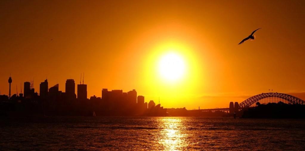 sydney, abendstimmung, sunset