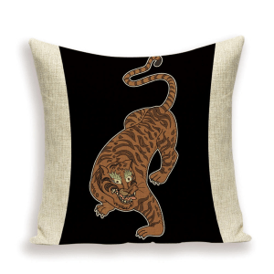 Gold tiger cushion