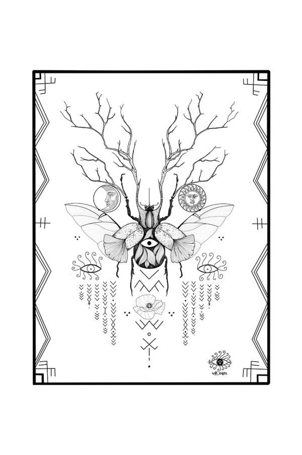 Tattoo design poster print by Ink Xiem