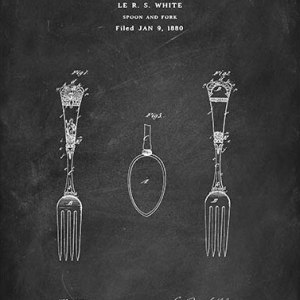 Spoon and fork patent
