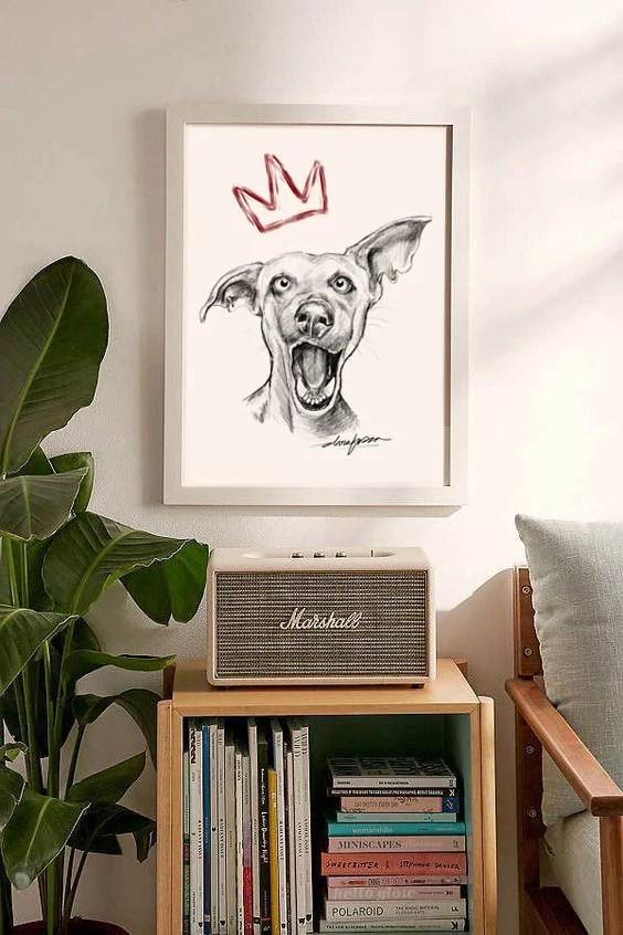 dog king print