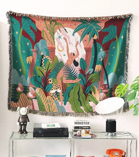 forest dancer tapestry