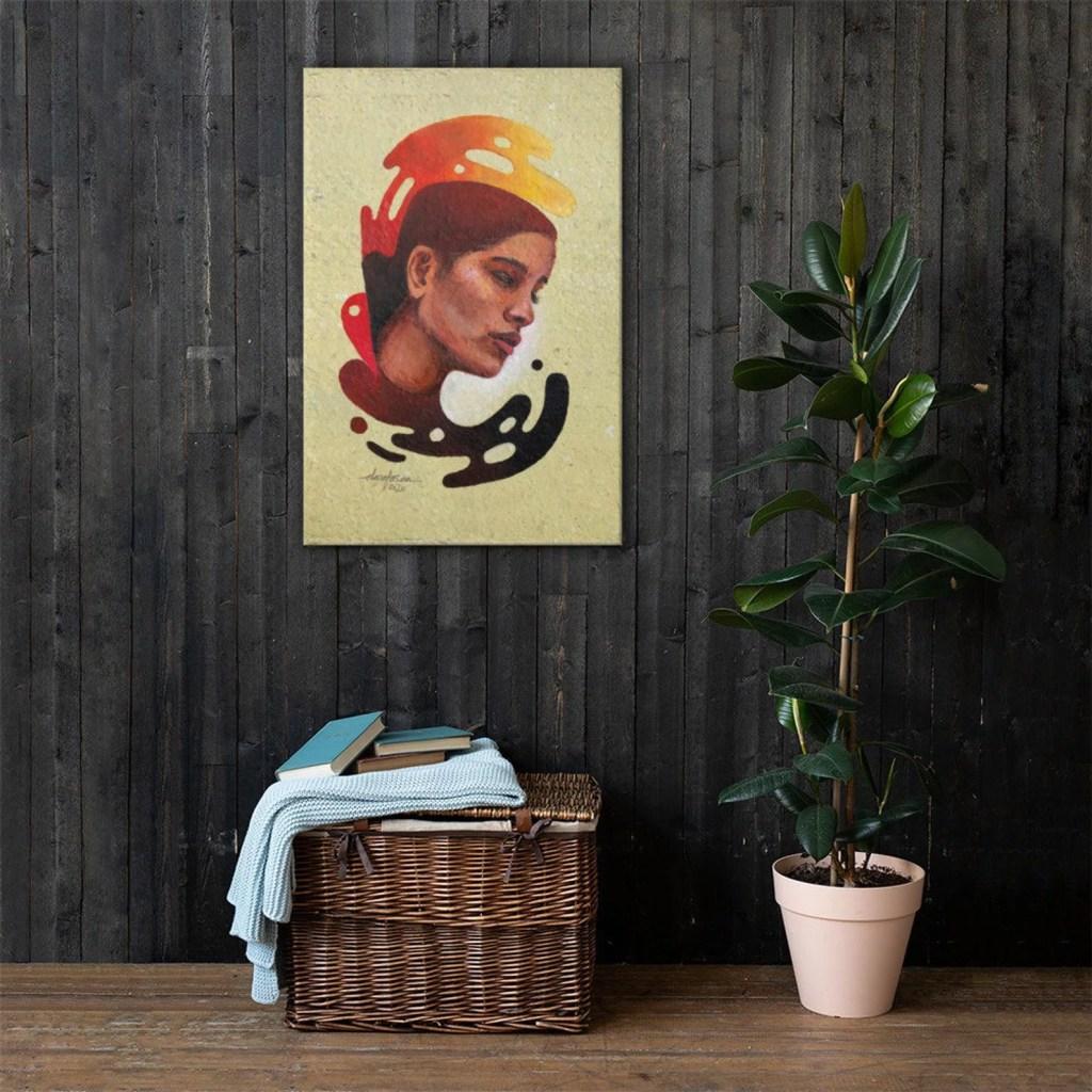 Fire girl print
