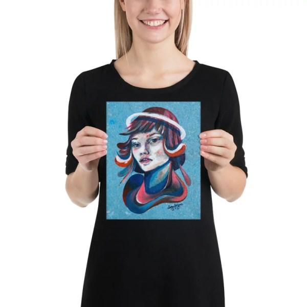 Blue divine soul print