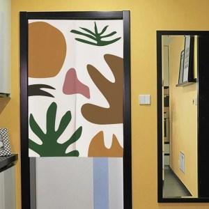 Coral doorway curtain