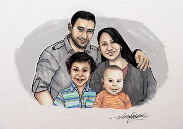 Portrait family full colour 4
