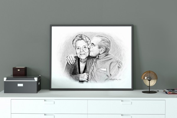 married couple portrait mockup 2