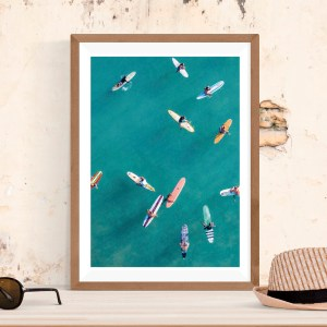 Longboard Surf Photography on canvas