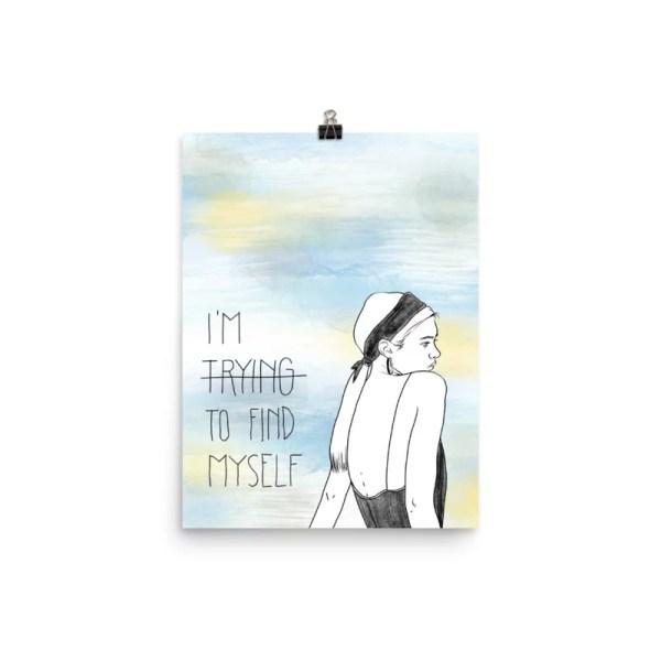 Im trying to find myself - illustration design