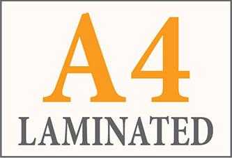 a4 laminated prints