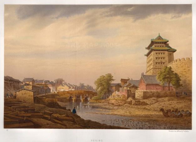 """Kom, 'View of City no.41. [Peking]', c.1873. An original colour lithograph. 15"""" x 20"""". £POA."""