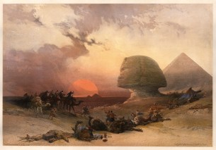 David Roberts: Egypt. 1842. RARE Subscribers' Edition. An original colour lithographi. 20 x 13 inches. [EGYp1104]