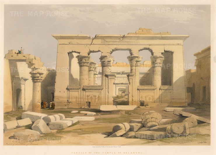 David Roberts: Egypt. 1848. A hand-coloured original antique lithograph. 21 x 15 inches. [EGYp562]